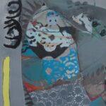 """""""Horona Duran Motifler"""", tuval üzerine karışık teknik, 97 X 116 cm, 2017"""