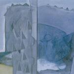 """Evin Sanat Galerisi 2007 Nuri İyem Resim Yarışması,""""Etek Sarı"""", diptik, tuval üzerine yağlı boya, 70 X 100 cm, 2005"""