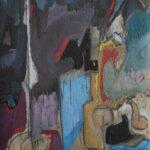 ''Natürmort - Atölye Üçgen 3'', 80 X 60 cm, kraft kağıt üzerine yağlı boya, 2002