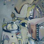 ''Natürmort - Atölye Üçgen'', 72 X 60 cm, kraft kağıt üzerine yağlı boya, 2001