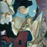 ''Natürmort - Atölye Üçgen'' 80 X 65 cm, kraft kağıt üzerine yağlı boya, 2001