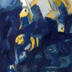 ''Merdiven'', 80 X 60 cm, kraft kağıt üzerine yağlı boya, 2001