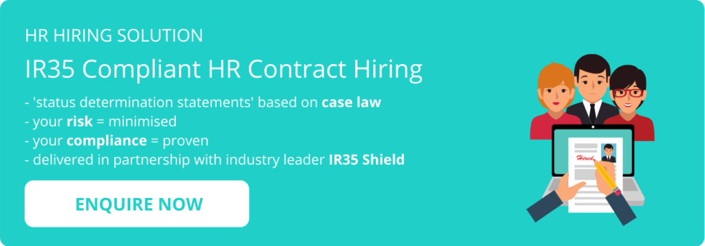 Contract HR hiring - enquire now - graphic - blog CTA