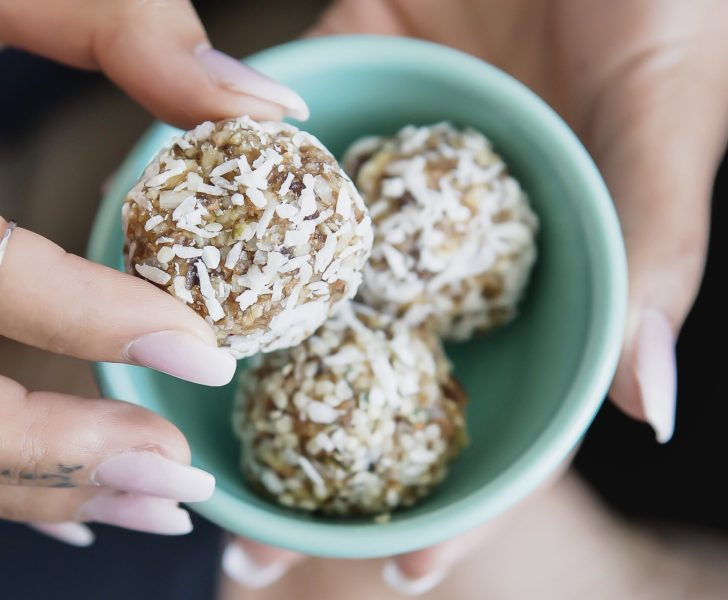 healthy food choices for kids snack box, energy balls.