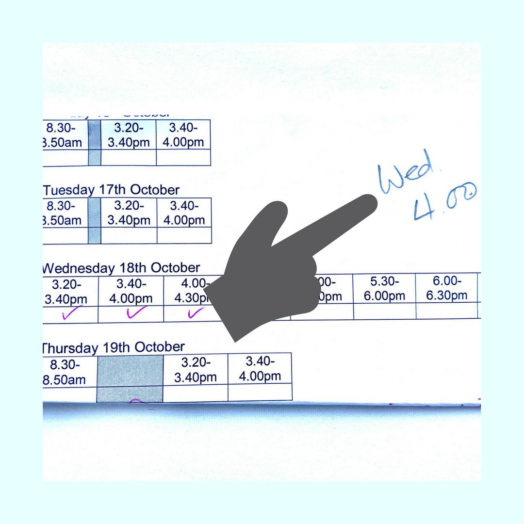 organising paperwork from school