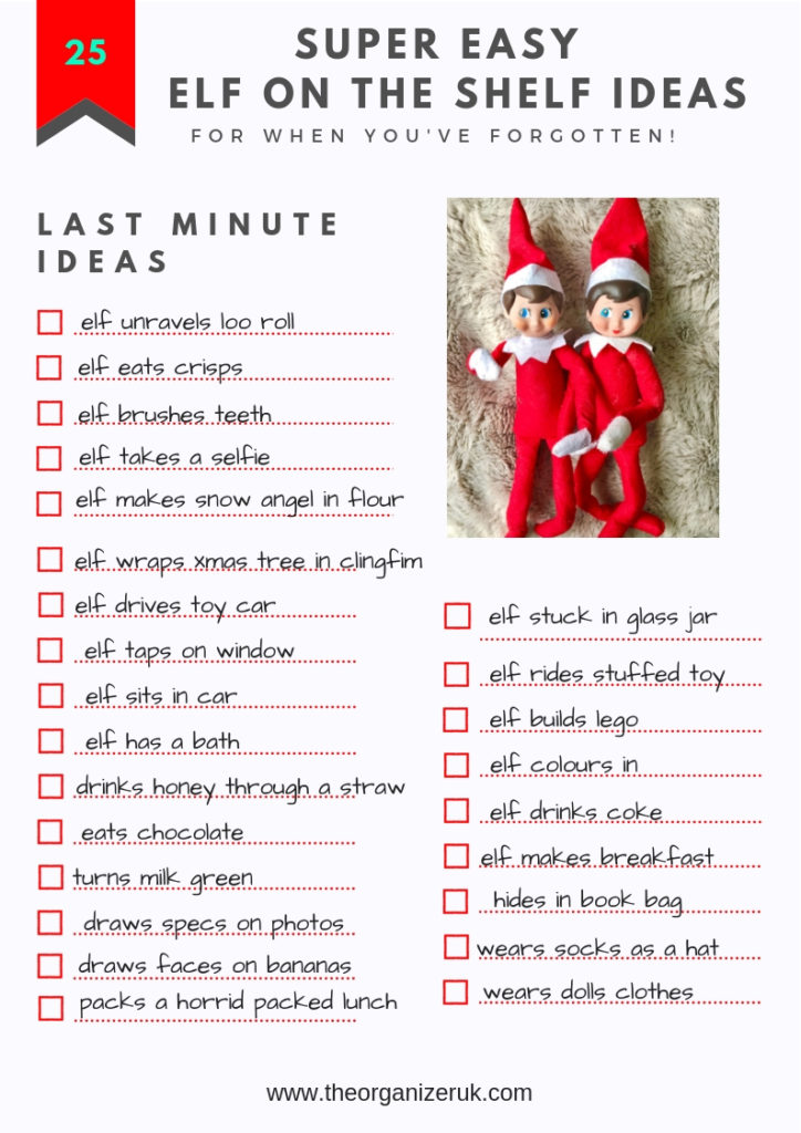 simple elf on the shelf ideas checklist, elf on the shelf coloring pages.