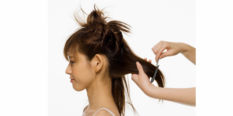 how to get rid of lice , work in sections through the hair