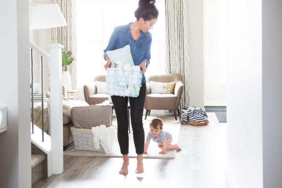 housework routine , laundry