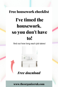How to stay on top of housework