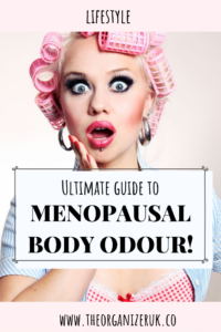 menopausal body odor pinnable image.