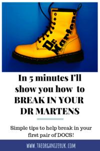 Pinnable image of how to break in Doc Martens