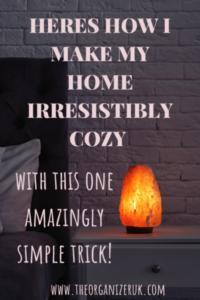 comfy cozy home feeling , Himalayan salt lamp