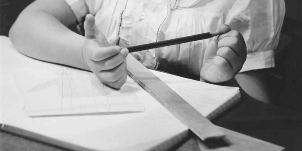 KS1 Maths sats paper. Ruler and pencil.