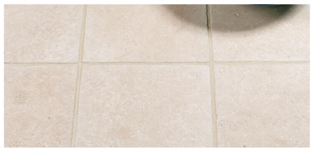 clean travertine tiles