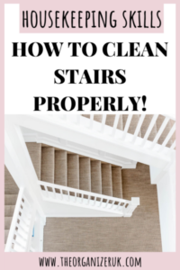 how to clean stairs properly pin it for later