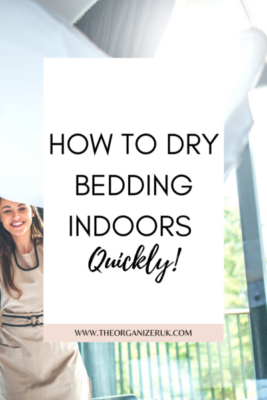 how to dry bedding indoors