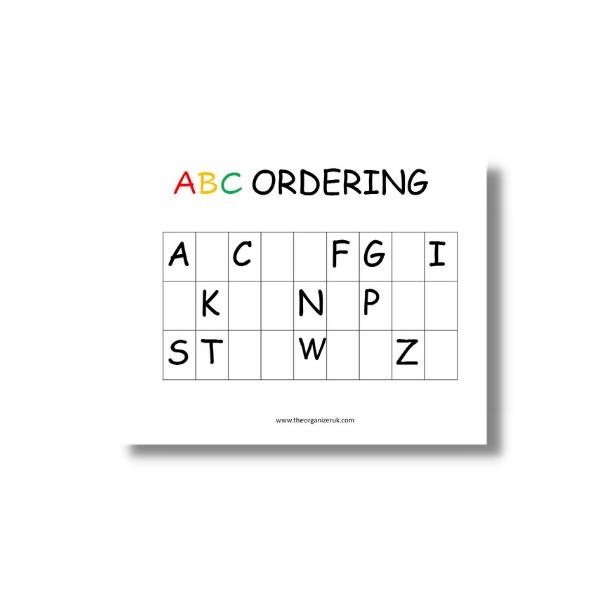 abc ordering practice sheet