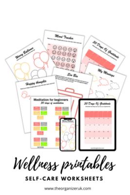 wellness planner self care planner