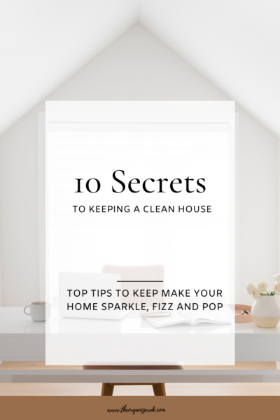 secrets to keeping a clean house