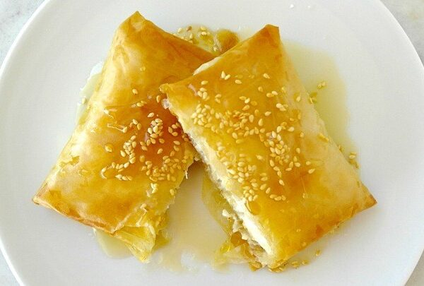 Feta Cheese Cooked With Pastry (v)