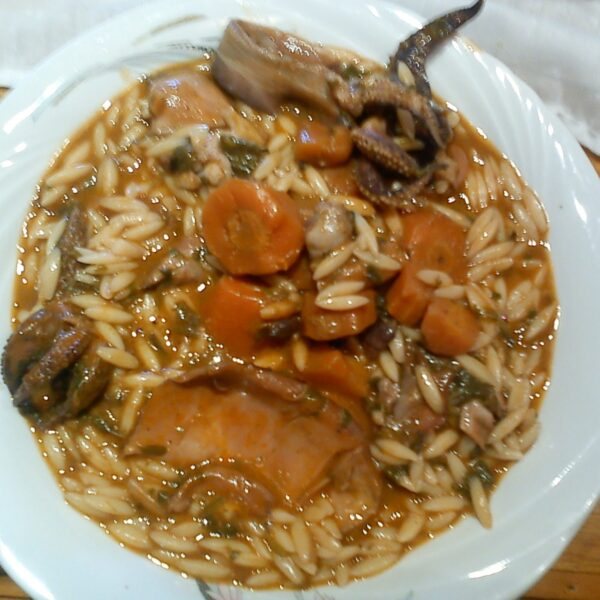 Orzo With Cuttlefish