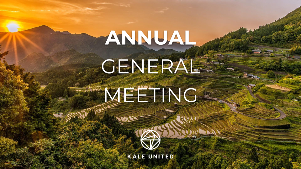 NOTICE TO ANNUAL GENERAL MEETING IN KALE UNITED AB