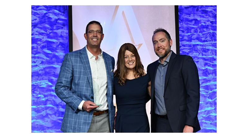 Nick Doran, Kimberly Tramontana and Rick Tramontana celebrate winning the ACE Innovator Award at the ARDA Award Ceremony held in Orlando, Florida in June.