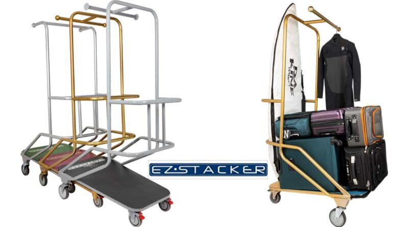 EZ Stacker from The Peggs Company - the only full-size luggage cart that stacks
