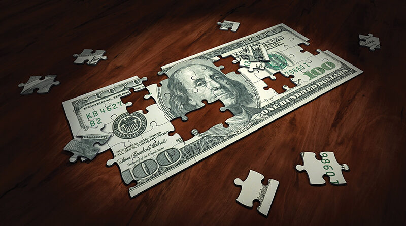 Money Puzzle Pieces