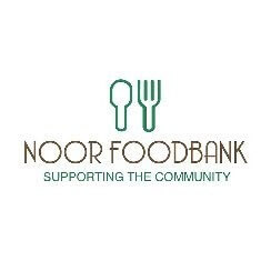 Noor FoodBank Logo with the words supporting the community