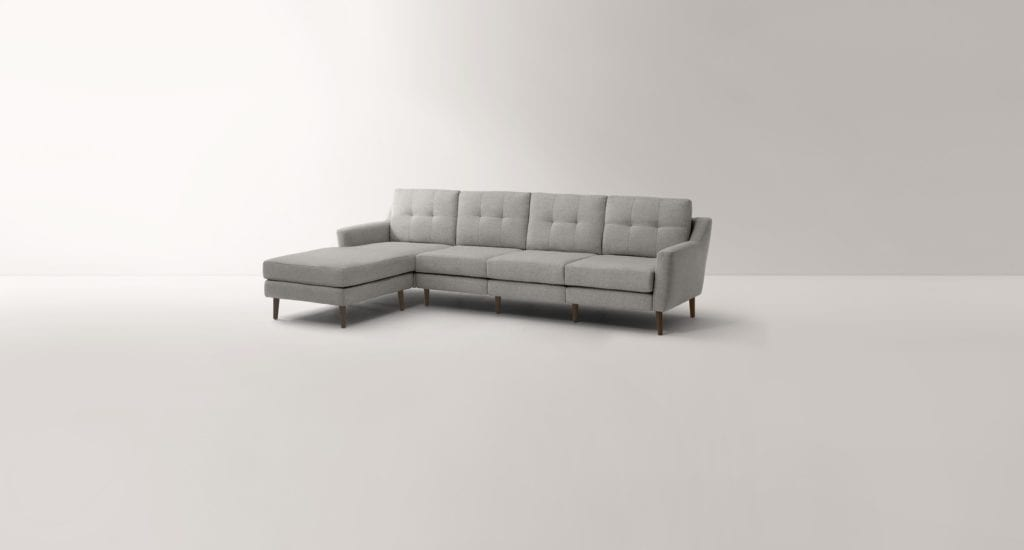 burrow sectional couch with chaise