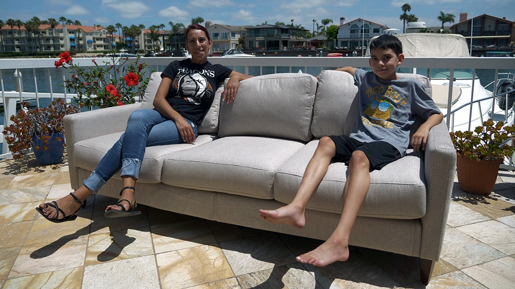 Ray and Rana Landreth on Bundle Couch