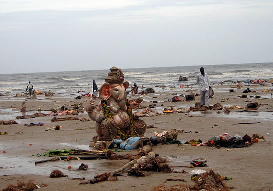 Effects of ganapti festival - Plaster of Paris Ganpati Idols