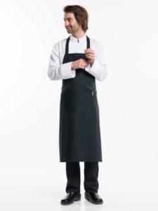 Sort forklæde til køkken - restaurant - markedsføring m.fl