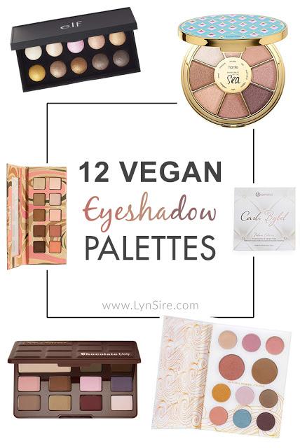 12 Vegan eyeshadow palettes cruelty free makeup