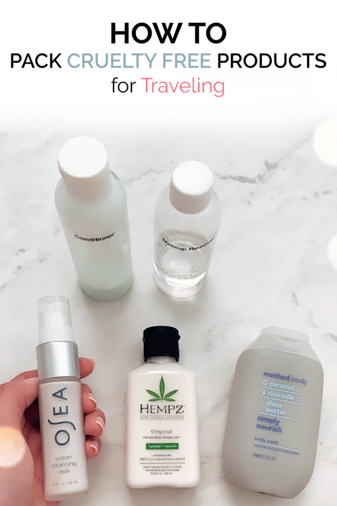 How to Pack Cruelty Free Products for Traveling