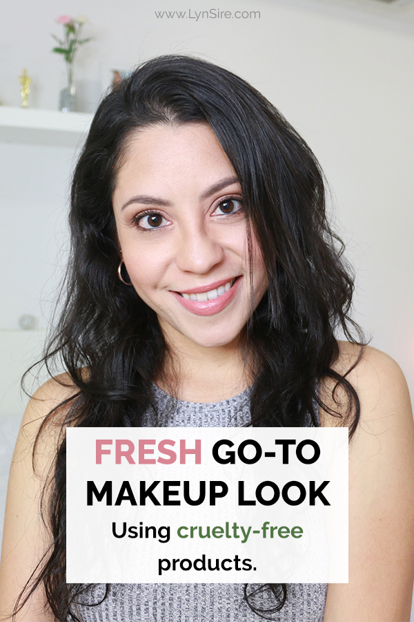 Fresh go to makeup look using cruelty free products