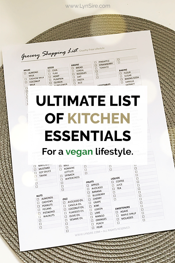 Ultimate List of Kitchen Essentials for a vegan lifestyle