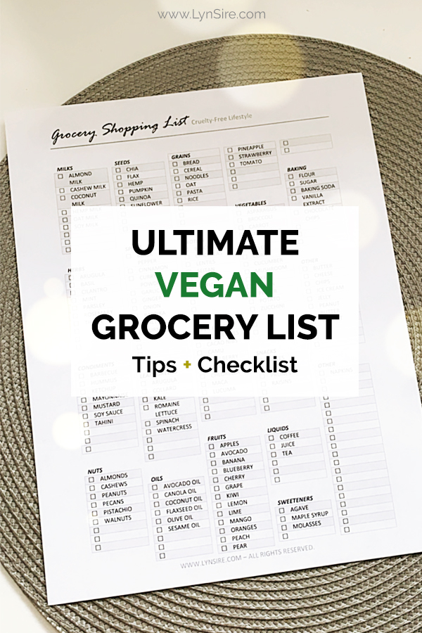Ultimate vegan grocery list Tips and Checklist