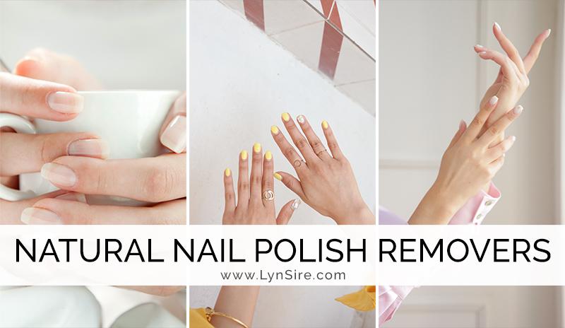 Natural nail polish removers