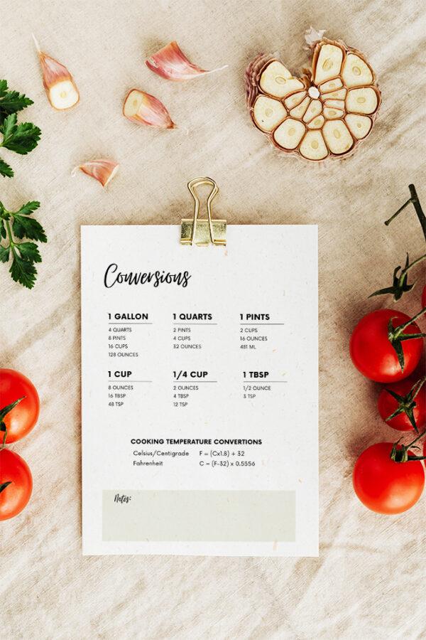 Recipe Binder Printables Template diy
