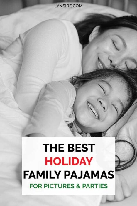 Holiday family pajamas pictures party