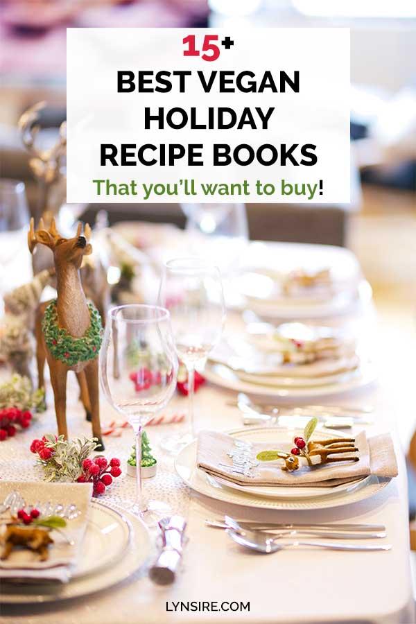 Vegan holiday recipe books