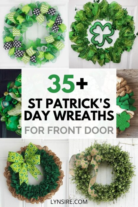St Patrick's Day wreath signs