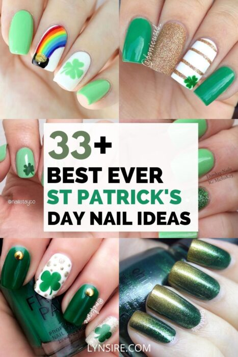 St Patrick's day nail ideas