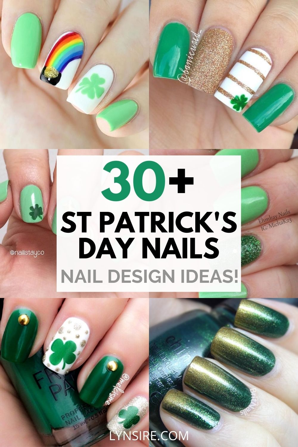 St Patrick's day nail polish