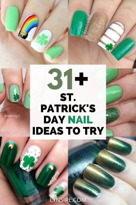 St Patrick's day nail stickers