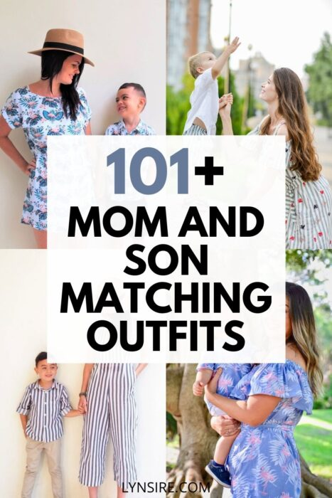 Mom and son matching outfits