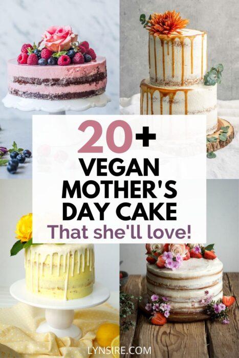 Vegan mothers day cake
