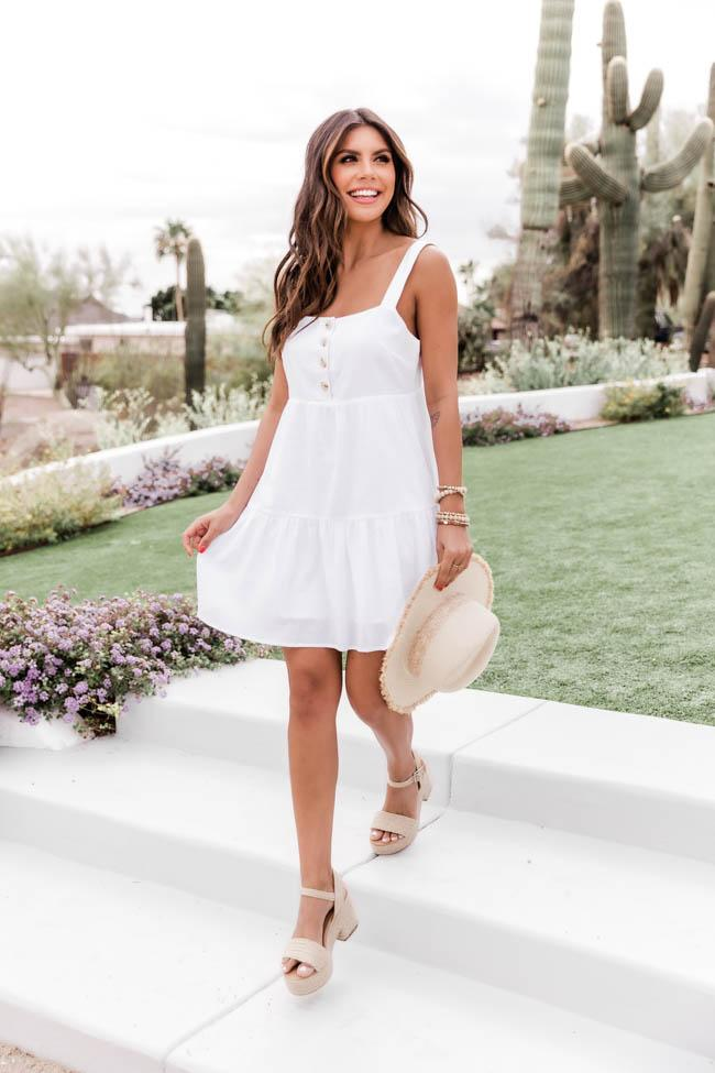 White graduation dress